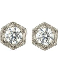Cathy Waterman - Metallic Hexagonal Studs - Lyst