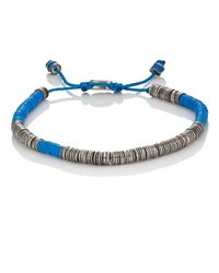 M. Cohen - Blue Rondelle Bracelet for Men - Lyst