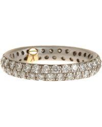 Linda Lee Johnson | Metallic Diamond Serena Ring | Lyst