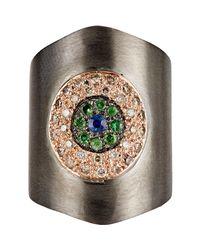 Ileana Makri - Metallic Shield Ring - Lyst
