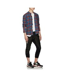 Greg Lauren - Blue Plaid Cotton Flannel Studio Shirt for Men - Lyst
