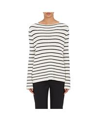 The Row | White Stretton Striped Cashmere | Lyst