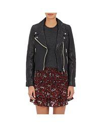 Étoile Isabel Marant - Black Aken Leather Moto Jacket - Lyst