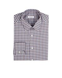 Boglioli - Brown Checked Cotton Dress Shirt for Men - Lyst