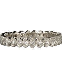 Cathy Waterman - Multicolor Continuous Heart Stackable Band - Lyst