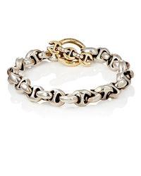 Hoorsenbuhs - Metallic Tri-link Bracelet - Lyst