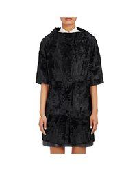 Barneys New York - Black Women's Astrakhan Collarless Jacket - Lyst