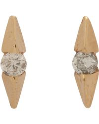 Loren Stewart - White Diamond Wing Stud Earrings - Lyst
