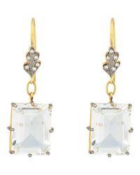 Cathy Waterman | Metallic White Topaz, Diamond & Gold Double | Lyst