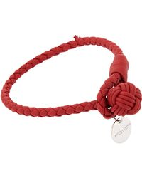 Bottega Veneta - Metallic Intrecciato Double-band Bracelet - Lyst