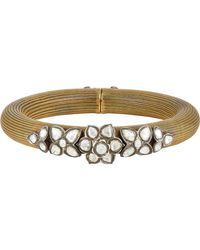 Munnu | Metallic Torque Bangle | Lyst