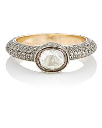 Munnu - Metallic White Diamond Ring - Lyst