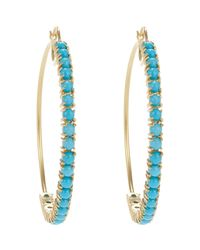 Irene Neuwirth | Blue Turquoise & Gold Hoop Earrings | Lyst