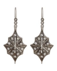 Cathy Waterman | Metallic Star Drop Earrings | Lyst
