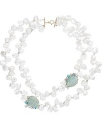 Sharon Khazzam | White Laisa Necklace | Lyst