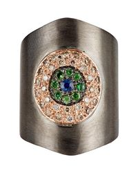 Ileana Makri | Metallic Shield Ring | Lyst