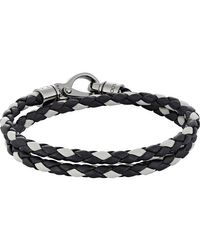 Tod's - Black Braided Leather Double for Men - Lyst