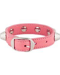 Balenciaga | Pink Arena Giant Bracelet | Lyst