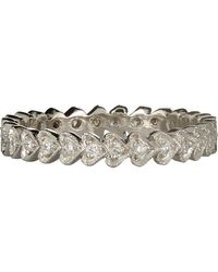 Cathy Waterman | Multicolor Continuous Heart Stackable Band | Lyst