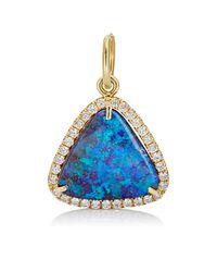 Irene Neuwirth | Blue Diamond & Boulder Opal Pendant | Lyst