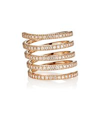 Roberto Marroni | Multicolor Diamond Spiral Ring | Lyst