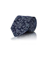 Ermenegildo Zegna - Blue Men's Floral Jacquard Necktie for Men - Lyst