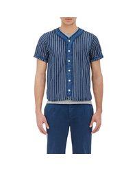Visvim - White Striped Baseball Shirt for Men - Lyst