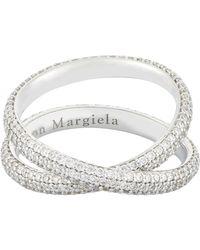 Maison Margiela   Metallic Twisted Ring   Lyst