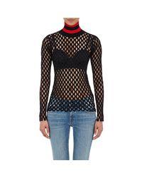 Alexander Wang - Black Women's Open-mesh Sweater - Lyst