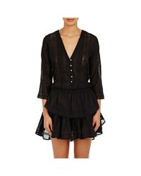 LoveShackFancy - Black Victorian Blouse - Lyst