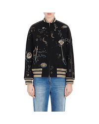 Valentino | Black astro Couture Embellished Bomber Jacket | Lyst