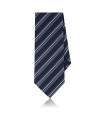 Brioni - Blue Textured-stripe Grenadine Necktie for Men - Lyst