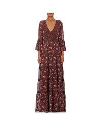 Ulla Johnson | Red Aurora Silk Georgette Maxi Dress | Lyst