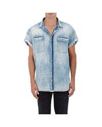 R13 | Blue Denim Cutoff Shirt for Men | Lyst