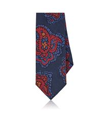 Drake's | Blue Exploded Paisley Silk Necktie for Men | Lyst