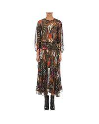 Warm - Black Chiffon Hostess Maxi Dress - Lyst