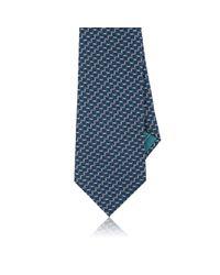 Brioni - Blue Square-print Silk Necktie for Men - Lyst