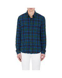 Vince | Green Plaid Cotton for Men | Lyst