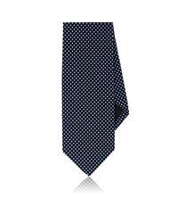 Drake's   Blue Dotted Silk Necktie for Men   Lyst