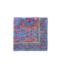 Ralph Lauren Purple Label | Blue Floral Silk Pocket Square for Men | Lyst