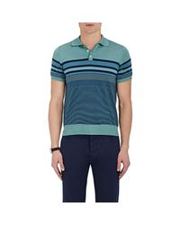 Isaia - Blue Striped Silk for Men - Lyst