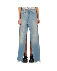 R13 | Blue Snap Slouch Jeans/skirt | Lyst