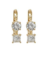 Ileana Makri - Metallic White Diamond Drop Earrings - Lyst