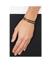Zadeh - Black Double-wrap Bracelet for Men - Lyst