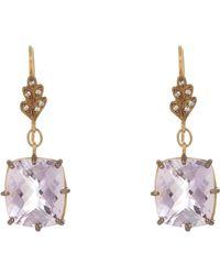 Cathy Waterman - Multicolor Gemstone Drop Earrings - Lyst