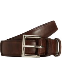 John Lobb - Brown Museum Leather Belt for Men - Lyst
