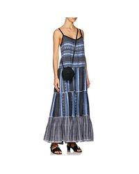 Lemlem - Blue Lucy Folkloric-striped Cotton-wool Maxi Dress - Lyst