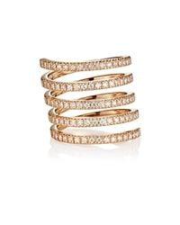 Roberto Marroni | Multicolor Diamond Spiral Ring | Lyst