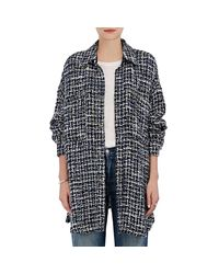 Faith Connexion - Blue Tweed Oversized Blouse - Lyst