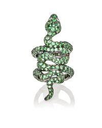 Sidney Garber | Green Magnea Hinged Ring | Lyst
